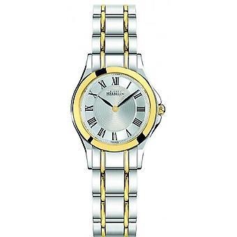 Michel Herbelin 17487-BT01 Women's Two Tone Luna Wristwatch