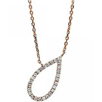 Diamond Collier Collier - Drops - 18K 750/- Red Gold - 0.17 ct.