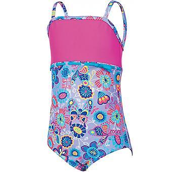 Zoggs Girls Wild Classicback Swim Swim Zwemkleding Badpak Vakantie Kostuum - 1 jaar