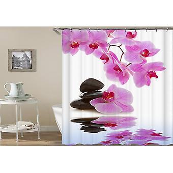 Tenda doccia rosa orchidea