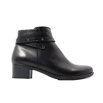 Remonte Inka R5170-01 Black Leather Womens Heeled Ankle Boots