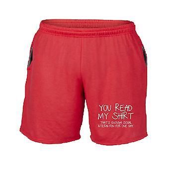 Pantaloncini tuta rosso trk0179 read