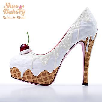 Baked and Ready Wedding Ice Cream Heels  sz 8 5.5