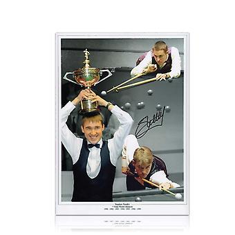Ondertekende Stephen Hendry snooker foto