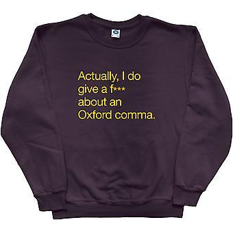 Oxford Comma Black Sweatshirt
