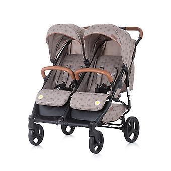 Chipolino sibling stroller Passo Doble foldable, 73 cm wide, foot bag