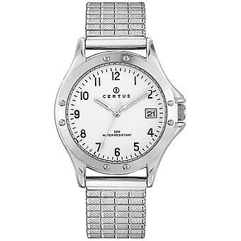 Certus 615604 se-Dateur bo tier og sølv stål armbånd