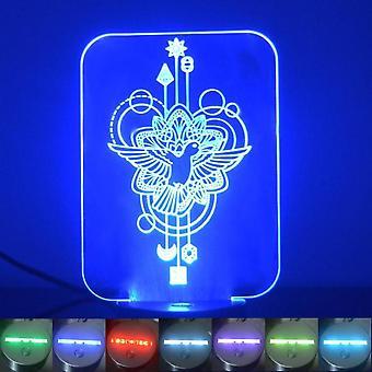 Fliegende Vogel dekorative Rechteck Farbwechsel LED Acryl Licht