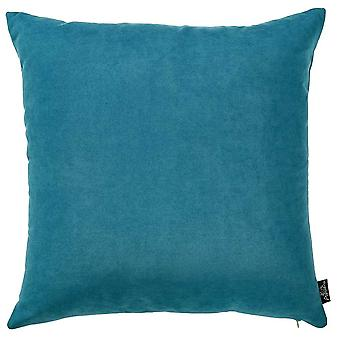 Set of 2 Teal Blue Brushed Twill Decorative Throw Pillow Covers