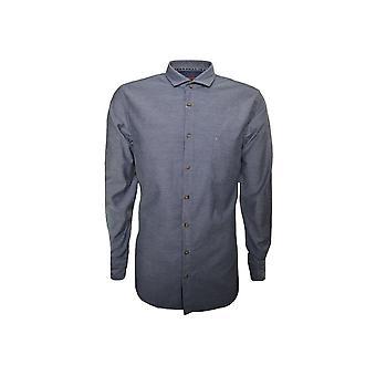 Hugo Boss Casual Hugo Boss oranssi miesten tumma sininen Cattitude pitkähihainen paita