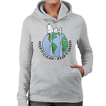 Peanuts Snoopy Keep It Green Women's Hooded Sweatshirt