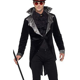 Gothic vampier jas volwassen zwart