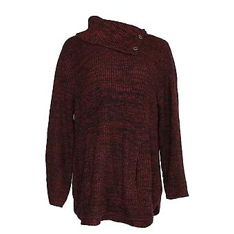 Style et Cie. Femmes -apos;s Plus Sweater V-cou King Pocket Pull-Over Red