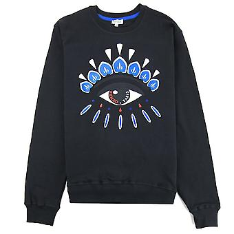 Кензо глаз Sweatshirt Черный / Синий