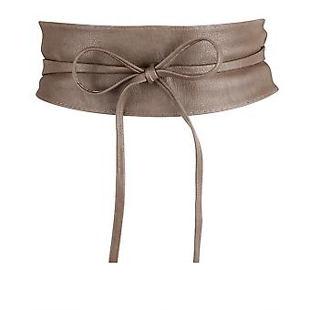 KRISP Womens Soft PU Faux läder Self tie wrap runt Obi midje band cinch Boho bälte