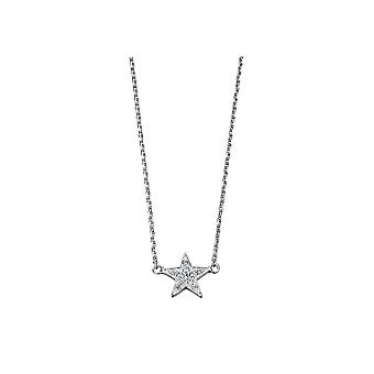 Joshua James Stardust Silver & Cz Pave Star Necklace
