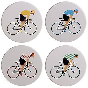 Puckator Cycle Works Bicycle Set of 4 Coasters