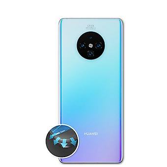 atFoliX 3x Anti Shock Screen Protector compatible with Huawei Mate 30 Pro Backcover matt&flexible