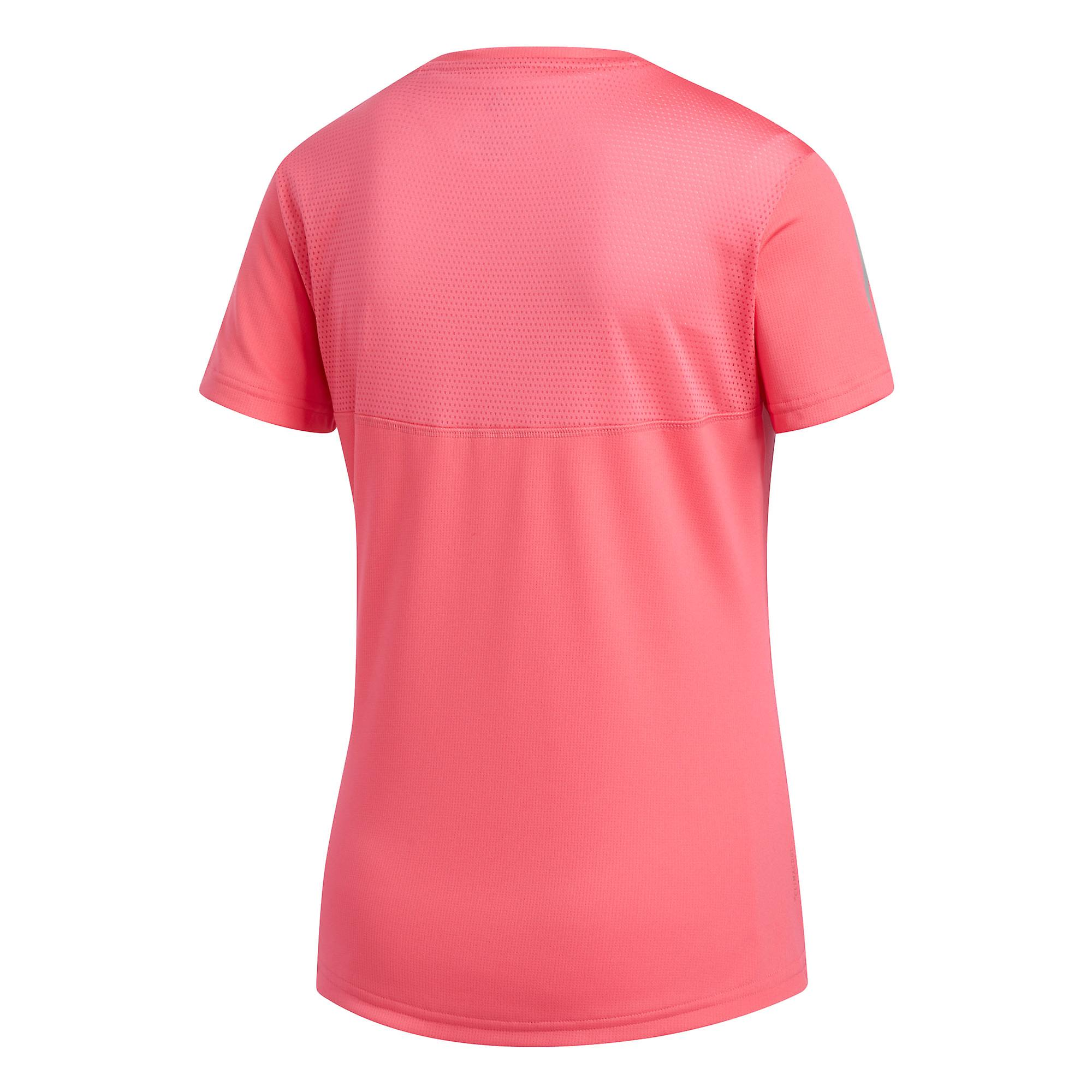 adidas Own The Run Womens Running Fitness Training T-Shirt Tee Pink