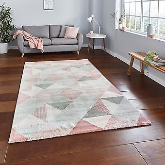 Aurora Think 53514 gris Rosa Rectángulo Rugs Plain/Nearly Plain Rugs
