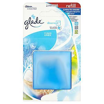 4 X 8G Glade Discreet Refills - Clean Linen