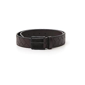 Bottega Veneta 609182vcpq32124 Men's Black Leather Belt