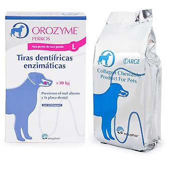 Ecuphar Orozyme Strisce- Dentifrice L (Cani , Toelettatura ed igiene , Igiene orale)
