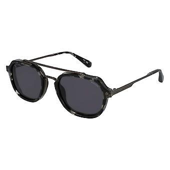 Police Lewis 05 SPLA26 0568 Total Shiny Gunmetal/Smoke Sunglasses