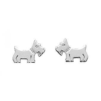 Silber Hund Ohrringe