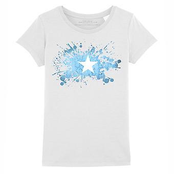 STUFF4 Mädchen's Rundhals T-Shirt/Somalia/Somali Flagge Splat/weiß