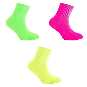 Silky Childrens Boys/Girls Dance Socks In Neon Colours (1 Pair)