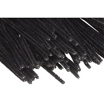RVFM Black Pipe cleaners 15cm - Pack of 100