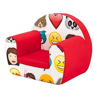 Ready Steady Bed Emoji Emoticons Design Children's Toddlers Furniture Small Foam Chair Armchair Seat