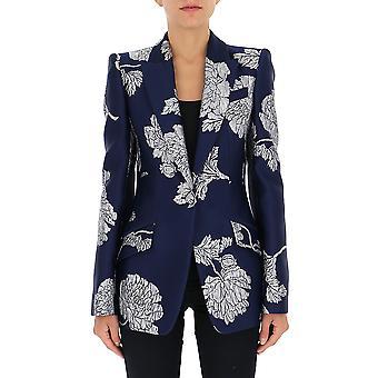 Alexander Mcqueen 583759qgaab4032 Damen's Blau Polyester Blazer