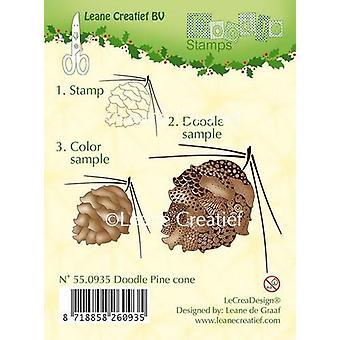 LeCrea Doodle Clear Stamp - Cône de pin