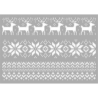 Pronty Maske Schablone - Weihnachtsmuster 470.803.052 A4
