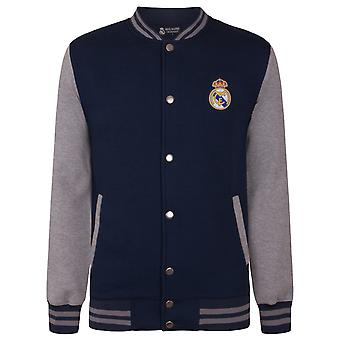 Real Madrid Official Football Gift Boys Retro Varsity Baseball Jacket