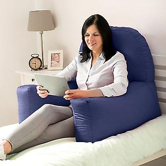 Het veranderen van Sofas Navy Blue Cotton Twill 'Chloe' Bean Bag Back Rest Reading Cushion