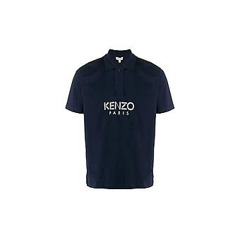 Kenzo Paris Centre Logo Navy Polo Shirt
