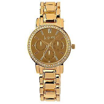 Eton Fashion Bracelet Watch, Gold Mirror Dial, Gold Tone 3210L-GD