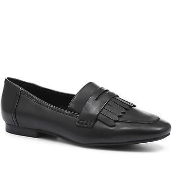 Staccato Femmes Plat Cuir Penny Loafer