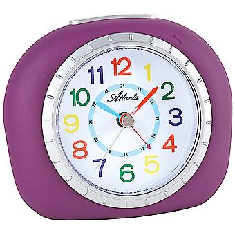 Atlanta 1966/8 alarm clock for children children alarm clock Purple Purple quietly without ticking