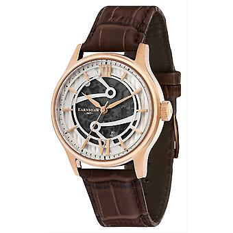Thomas Earnshaw Bauer automatisch Skeleton horloge - bruin/wit/Rose Gold