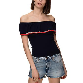 Only Women's Minna Dark Off-Shoulder Top With Ruffles