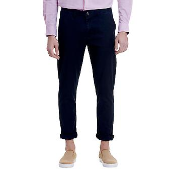 Funky Buddha Men's Tailored Trousers In Plain Pattern
