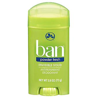 Ban görünmez katı antiperspirant & deodorant, toz taze, 2.6 oz
