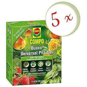 Sparset: 5 x COMPO Duaxo® Universal Mushroom-Free, 75 ml