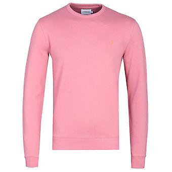 Farah Tim Dusty Rose Crew Neck Sweatshirt