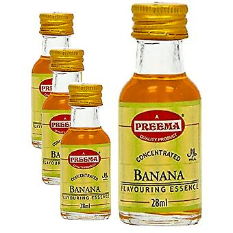 4 x 28ml Banana Essence Baking Aroma Smak Koncentrerade Kakor Cookies