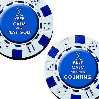 Keep Calm - Poker Chip Ball Markers - 2Pk